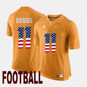 US Flag Fashion Mens Joshua Dobbs UT Jersey #11 Orange