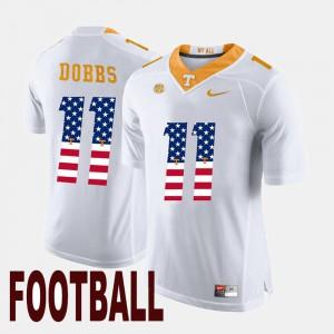 Men's White #11 Joshua Dobbs UT Jersey US Flag Fashion