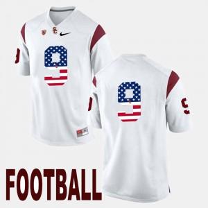 White Men #9 JuJu Smith-Schuster USC Jersey US Flag Fashion