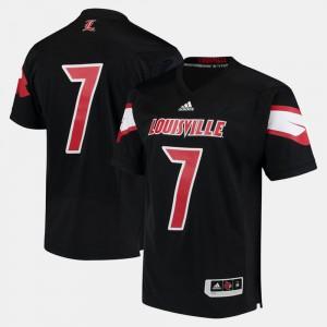 Men's #7 Black 2017 Special Games Louisville Jersey
