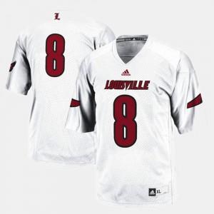 College Football #8 Men's Louisville Jersey White