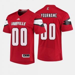 #00 Red Louisville Custom Jerseys Men College Football