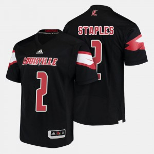Black Jamari Staples Louisville Jersey #2 Men College Football