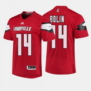 #14 Mens Kyle Bolin Louisville Jersey College Football Red