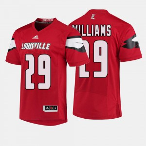 #29 College Football Red Malik Williams Louisville Jersey For Men's