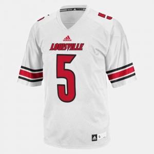 Men White #5 Teddy Bridgewater Louisville Jersey College Football
