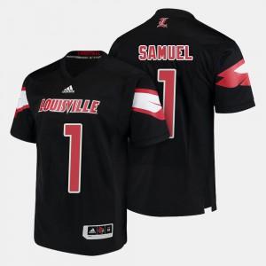 College Football #1 Black Traveon Samuel Louisville Jersey For Men's