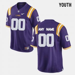 #00 Purple Kids LSU Custom Jerseys College Limited Football