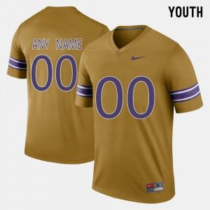 Kids LSU Customized Jerseys Gridiron Gold Throwback #00