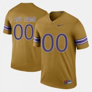 Throwback LSU Custom Jerseys For Men's Gridiron Gold #00