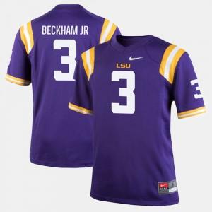 Men's Odell Beckham Jr LSU Jersey #3 Purple Alumni Football Game