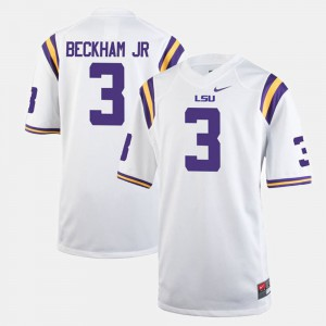 Odell Beckham Jr LSU Jersey #3 Alumni Football Game White For Men