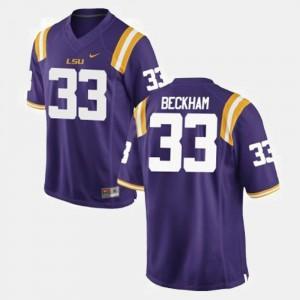 Purple Odell Beckham Jr. LSU Jersey Kids #33 College Football