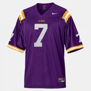 #7 Purple College Football For Men Patrick Peterson LSU Jersey