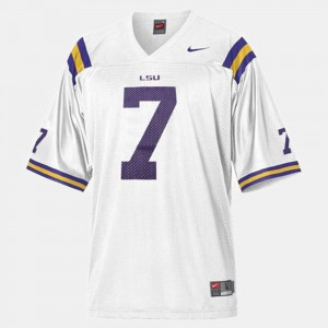 #7 For Men White Patrick Peterson LSU Jersey College Football