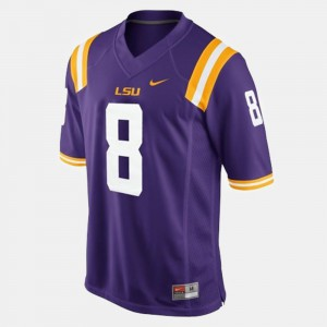 Zach Mettenberger LSU Jersey Purple College Football Mens #8