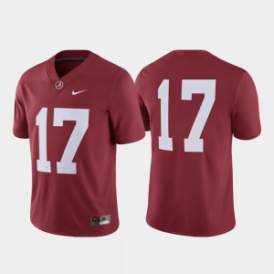 #17 Game Men College Football Alabama Jersey Crimson
