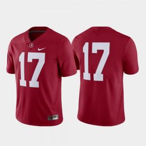 #17 College Football Men Alabama Jersey Crimson Limited