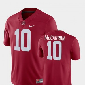 AJ McCarron Alabama Jersey Game Crimson College Football For Men #10
