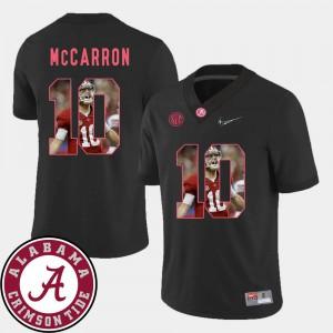 Football #10 Pictorial Fashion AJ McCarron Alabama Jersey Black For Men's