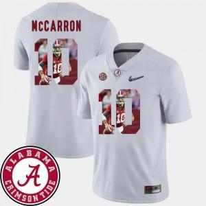 #10 For Men Pictorial Fashion AJ McCarron Alabama Jersey White Football