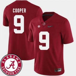 2018 SEC Patch Crimson Mens #9 College Football Amari Cooper Alabama Jersey