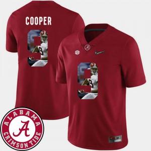 Football Pictorial Fashion #9 Amari Cooper Alabama Jersey For Men Crimson