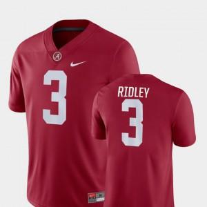 Calvin Ridley Alabama Jersey Crimson For Men's Game College Football #3