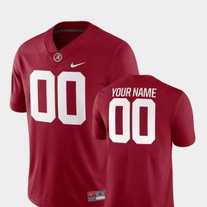College Football 2018 Game Mens #00 Crimson Alabama Custom Jerseys