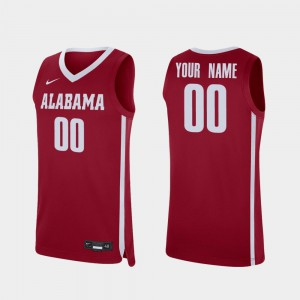 #00 Crimson For Men's Replica Alabama Custom Jerseys College Basketball