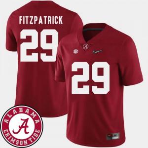 Minkah Fitzpatrick Alabama Jersey Crimson 2018 SEC Patch #29 Men College Football