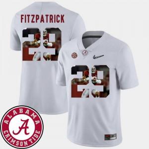 Mens White Minkah Fitzpatrick Alabama Jersey Football Pictorial Fashion #29