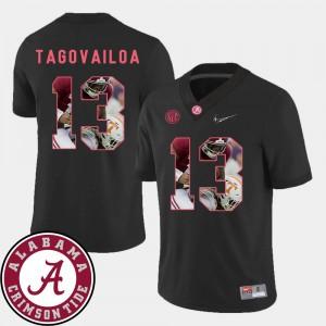 #13 For Men Pictorial Fashion Tua Tagovailoa Alabama Jersey Football Black
