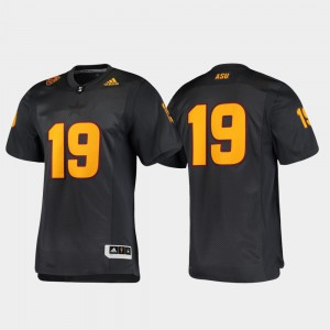 Men Premier Black ASU Jersey #19 Football