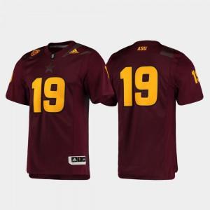 ASU Jersey Mens Football #19 Premier Maroon