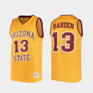 Alumni For Men's #13 Gold James Harden ASU Jersey College Basketball