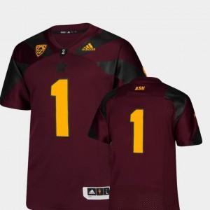 ASU Jersey #1 Maroon Premier For Men College Football