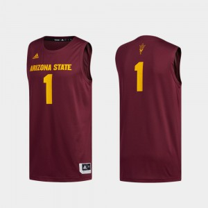 Maroon Basketball Swingman Swingman Basketball ASU Jersey #1 Mens