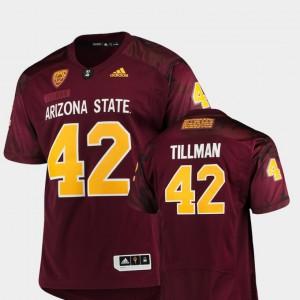 #42 Maroon Pat Tillman ASU Jersey Men's Special Premier Game