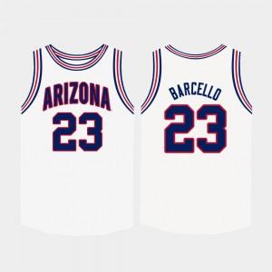 White #23 For Men's College Basketball Alex Barcello Arizona Jersey