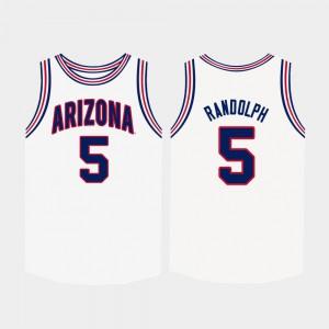 Brandon Randolph Arizona Jersey #5 College Basketball Mens White