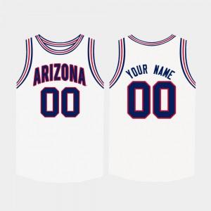 #00 White For Men College Basketball Arizona Custom Jersey