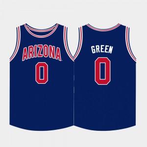 Navy College Basketball #0 Mens Josh Green Arizona Jersey