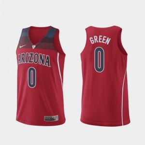 #0 For Men Authentic Hyper Elite College Basketball Red Josh Green Arizona Jersey