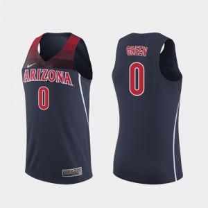 College Basketball #0 Mens Navy Replica Josh Green Arizona Jersey