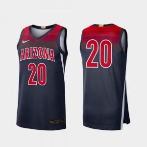 College Basketball Navy Arizona Jersey Men's #20 Limited