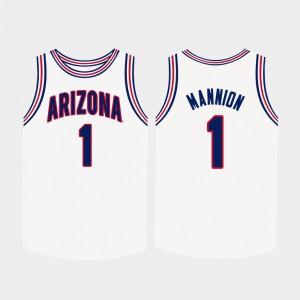 For Men's College Basketball White Nico Mannion Arizona Jersey #1