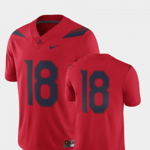 #18 For Men's Red Arizona Jersey College Football 2018 Game
