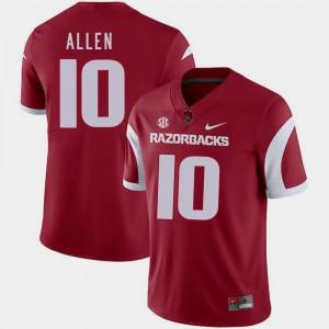 College Football Cardinal Brandon Allen Arkansas Jersey #10 Mens