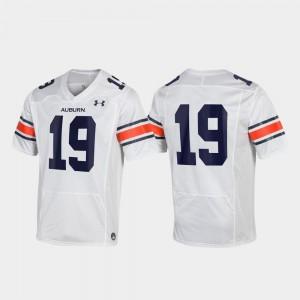 #19 White For Men Replica Auburn Jersey